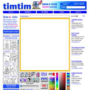 TimTim free drawings & online coloring drawings