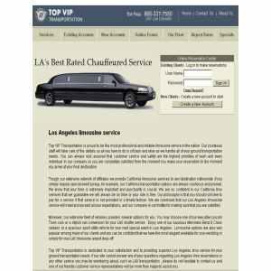California limousine service