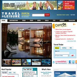 Travel + Leisure Magazine - Vacation guides
