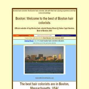 Boston hair coloring @ Salon Capri