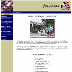VA Home Loans for veterans & military - VA Homes for sale