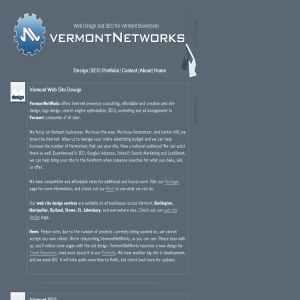 VermontNetWorks, Vermont Web Design