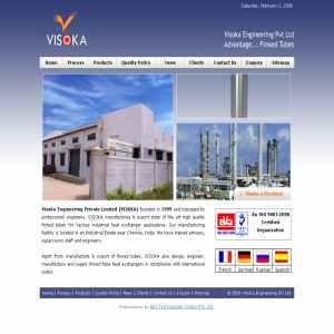 Visoka Engineering - Heat Finned Tubes Exchangers