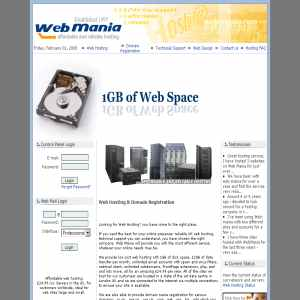 Web Mania - Low Cost Hosting