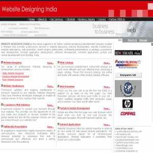Website Designing & Development services from India