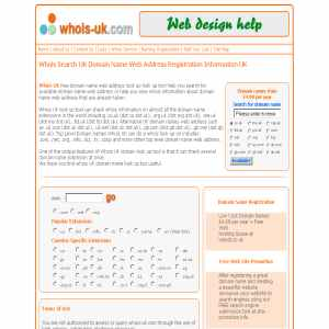 Domain Name Whois Search