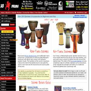 Instruments at X8 Drums