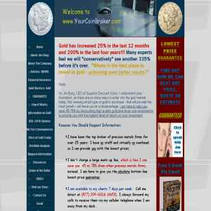 Coin dealer, precious metals Investing