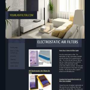 Electrostatic Air Filter - your last filter