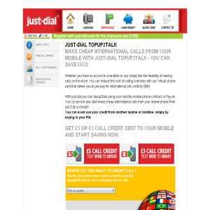 Topup2Talk - Just Dial