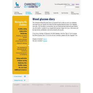 Diabetes Blood Glucose Log