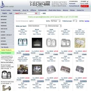 Kitchen Sinks at Homecenter.com