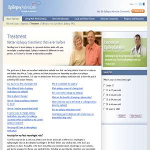 Epilepsy Treatment - About and Information