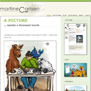 Martine Carlsen - web design, flash, illustrations