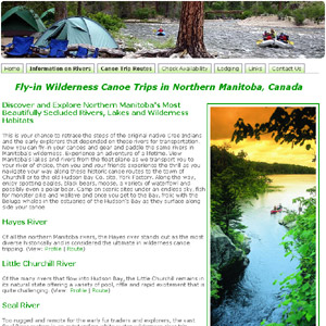 Wilderness Fly-in Canoe Trips in Manitoba Canada