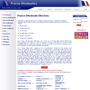 French Wholesale Dropshippers &  Suppliers Directory
