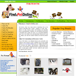 Find a Pet Online - Pet Community