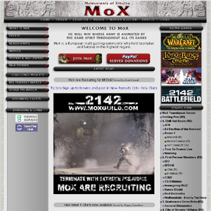 MoX - Malevolents of Xibalba - Multi Gaming Guild
