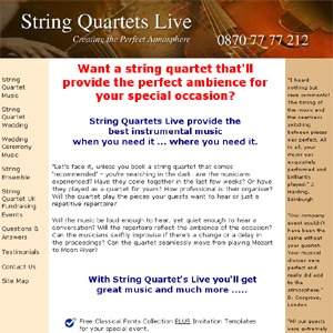 String Quartets Live - Instrumental Ensemble