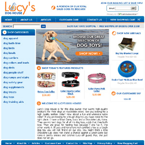 Lucysdoghouse - Dog collars, toys and beds