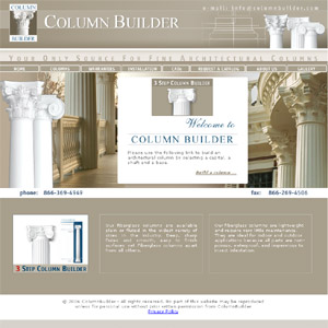Custom Architectural Fiberglass Column Builder