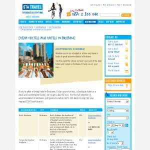 Cheap Hotels & Hostels - Brisbane Accommodation