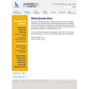 Diabetes Blood Glucose Log