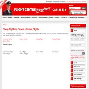 Flights to Canada - Flight Centre