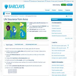 Life Cover - Barclays life insurance