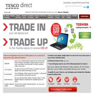 Toshiba laptop - Tesco Direct