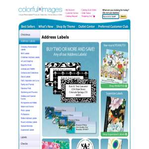 Convey Your Personal Message with Personalized Address Labels - Colorful Images