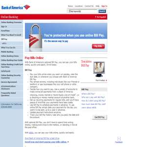 Online Bill Pay from Bank of America
