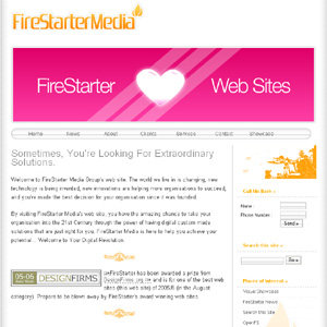 FireStarter Media Web Site Design