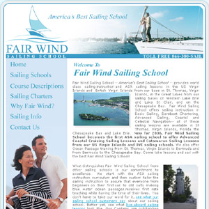 Fair Wind Sailing Instruction Virgin Islands