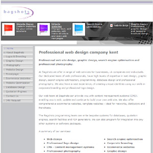 Web Design at Bagshots.com
