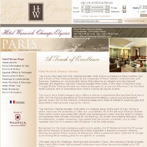 Warwick Champs Elysées Paris Hotel